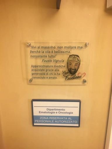 Al Gaslini di Genova una targa in memoria di Fausto Vignola