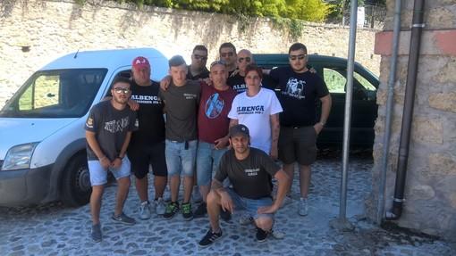 Terremoto, arrivati a destinazione i tifosi dell'Albenga Calcio: consegnati i beni di prima necessità