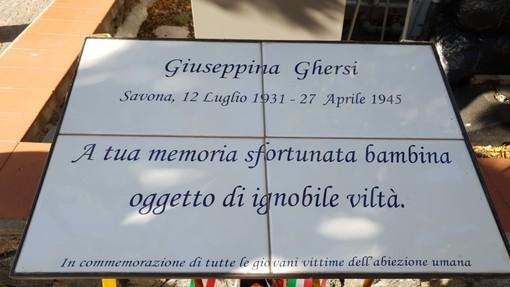 Noli, vandalizzata la targa in memoria di Giuseppina Ghersi: la denuncia del professore Roberto Nicolick