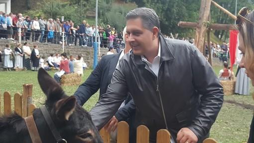 Festa della Transumanza a Mendatica: intervista a Giovanni Toti, presidente della Regione (FOTO e VIDEO)