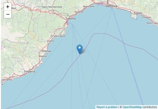 Scossa di terremoto al largo della costa savonese