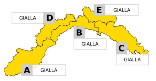 Maltempo, emanata l'allerta gialla per neve in Val Bormida e temporali sul resto della Liguria