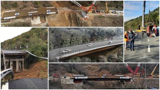 Stanno per calare i veli sul nuovo viadotto Madonna del Monte sulla A6: domani l'inaugurazione a tempi record