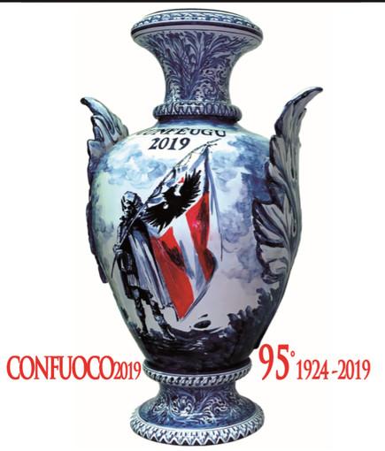 Savona, il vaso del Confuoco in mostra alla Cassa di Risparmio Carige