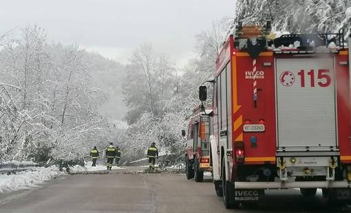 Neve in Val Bormida: circa 40 interventi dei vigili del fuoco (FOTO)