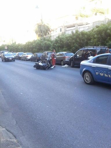 Alassio: moto contro moto in viale Hanbury