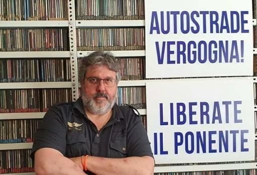 """La protesta di Vaccarezza (Cambiamo!): """"Autostrade, vergogna! Liberate il Ponente"""""""