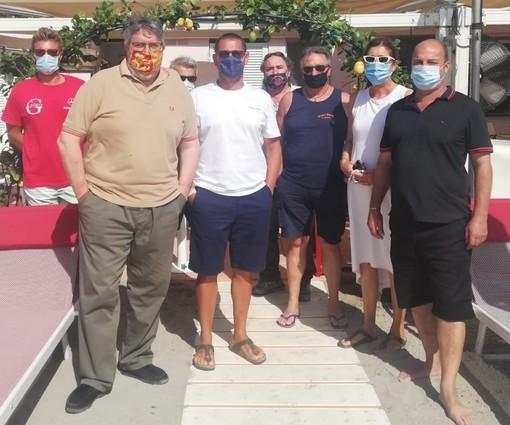 Vaccarezza (Cambiamo!) incontra il direttivo dell'Associazione Balneari Alassini