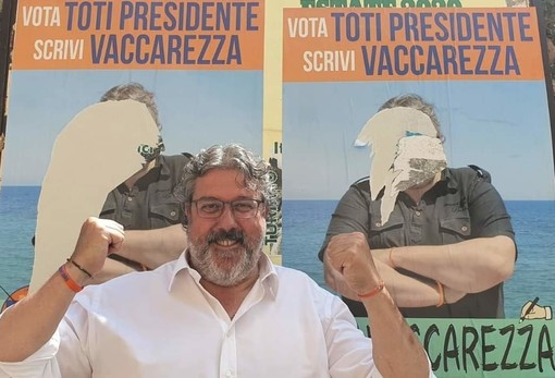 #Elezioni2020, Vaccarezza (Cambiamo!) schernisce i vandali che gli strappano i manifesti