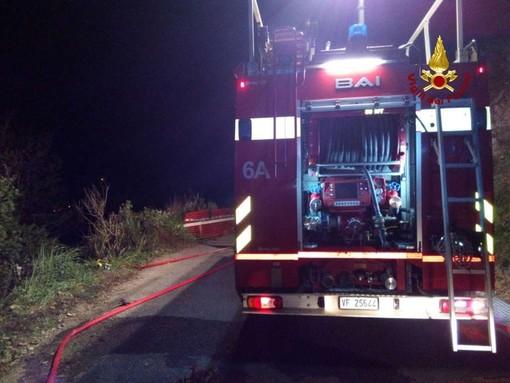 Osiglia, incendio boschivo in località Ronchi