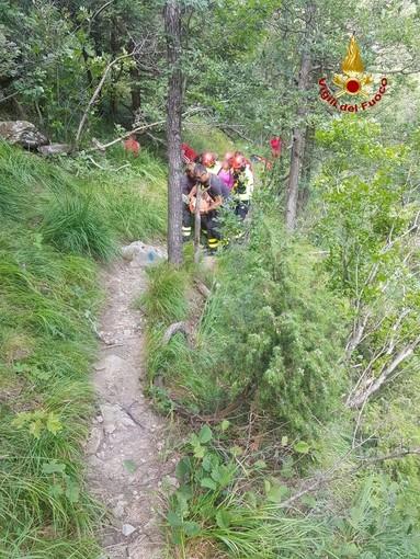 Urbe: donna cade alle cascate della Coicia e si rompe una gamba, intervento dei soccorritori