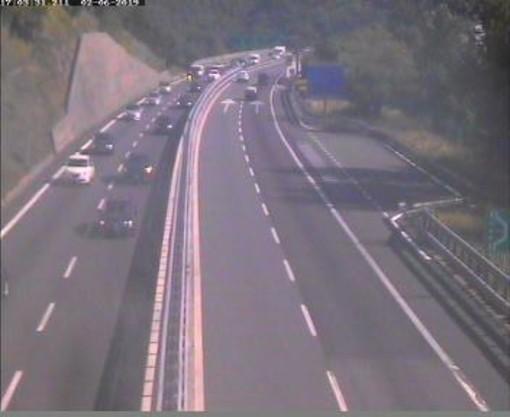 immagine tratta dalla webcam sulla A10 nei pressi di Finale Ligure